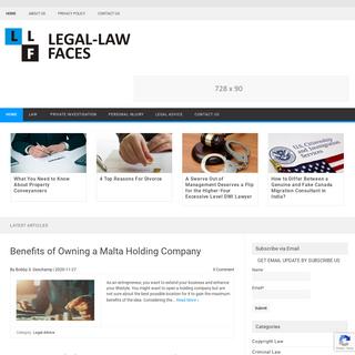 Legal Law Faces - A Lawyer Blog