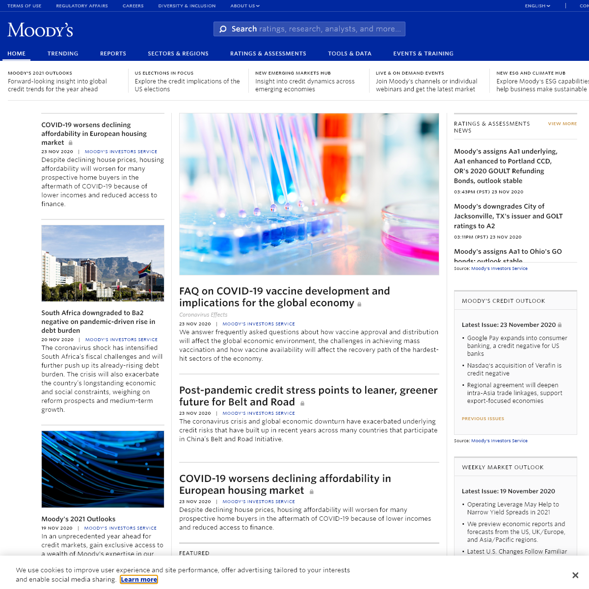 Moody`s - credit ratings, research, tools and analysis for the global capital markets