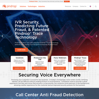 Pindrop- Voice Biometric Authentication & Anti-Fraud for Call Centers