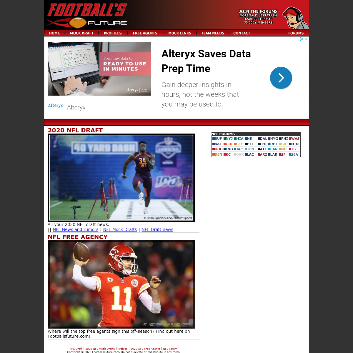 2020 NFL Draft, NFL Mock Draft, Combine results, Forums, from Football`s Future
