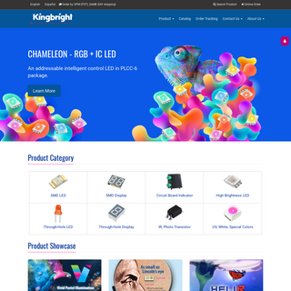 Kingbright USA LED Components Manufacturers