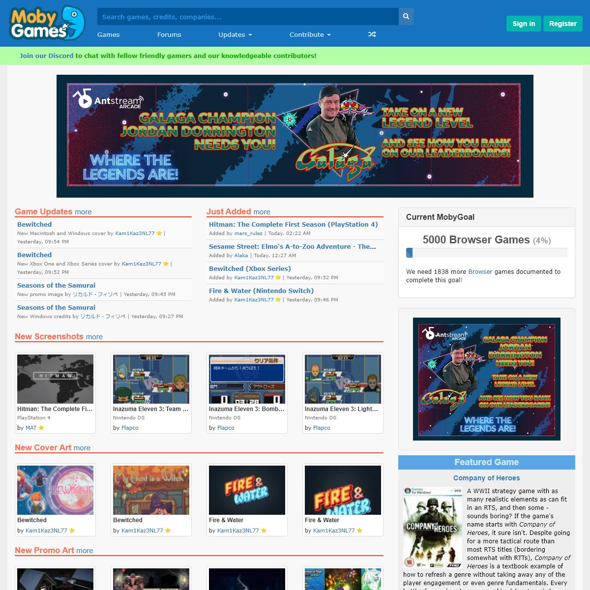 Video Games Database. Credits, Trivia, Reviews, Box Covers, Screenshots - MobyGames