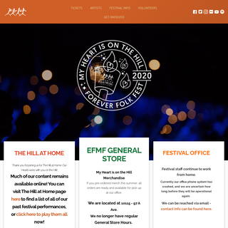 Edmonton Folk Music Festival August 5-8, 2021 – Every August on Gallagher Hill in Edmonton – some of the best Folk Music fro