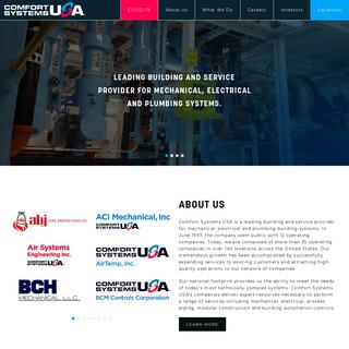 Home - Comfort Systems USA