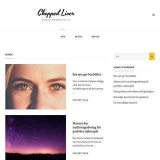 Chopped Liver - En blogg om konst och liv