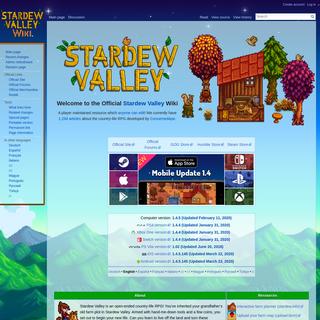 Official Stardew Valley Wiki