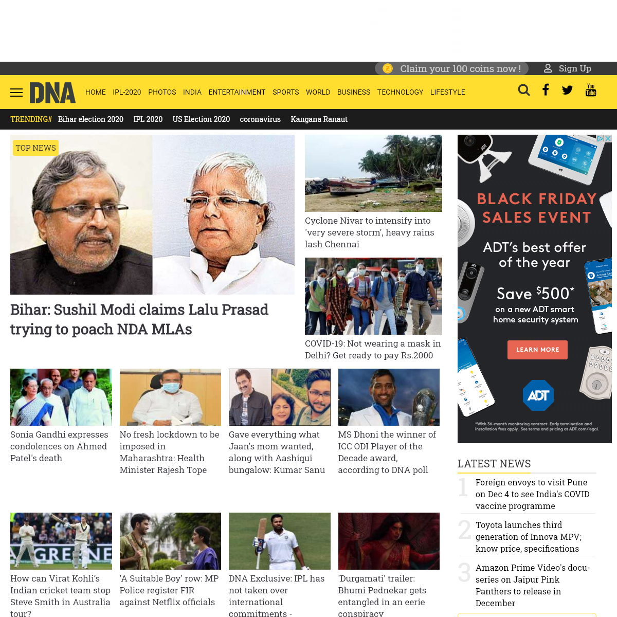 DNA India - Latest News, Live Breaking News on India, Politics, World, Business, Sports, Bollywood