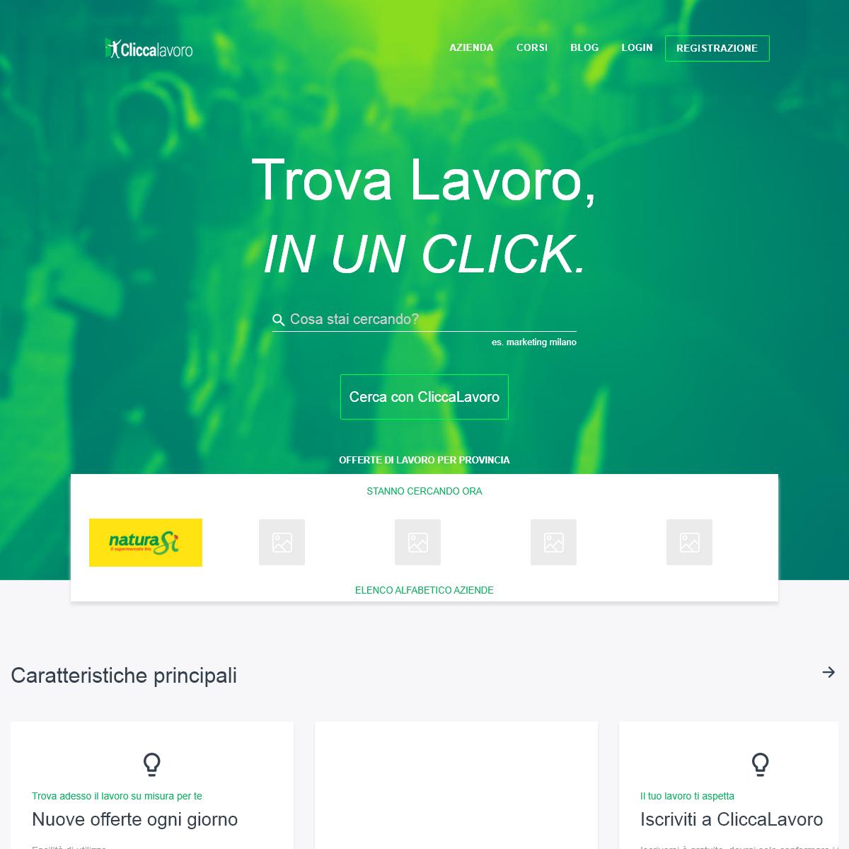 Cliccalavoro, il sito per trovare lavoro e corsi di formazione - it