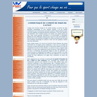 FSGT - Comité de Paris -