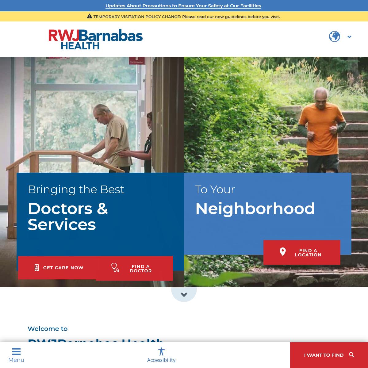 RWJBarnabas Health - Comprehensive Healthcare in New Jersey