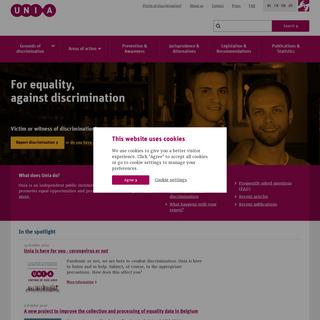 Unia- For equality, against discrimination - Unia