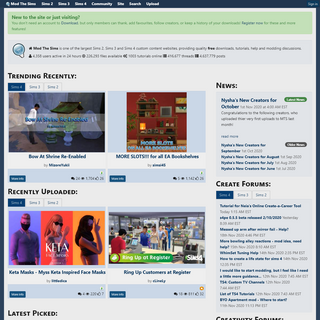 A complete backup of modthesims.info
