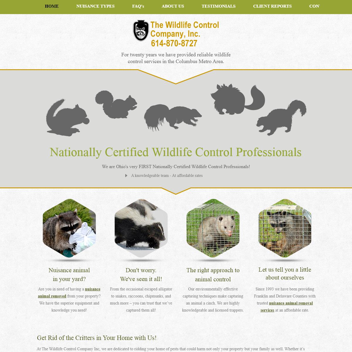 Wildlife Control Dublin OH - Animal - Bat, Skunk Removal Columbus, Westerville
