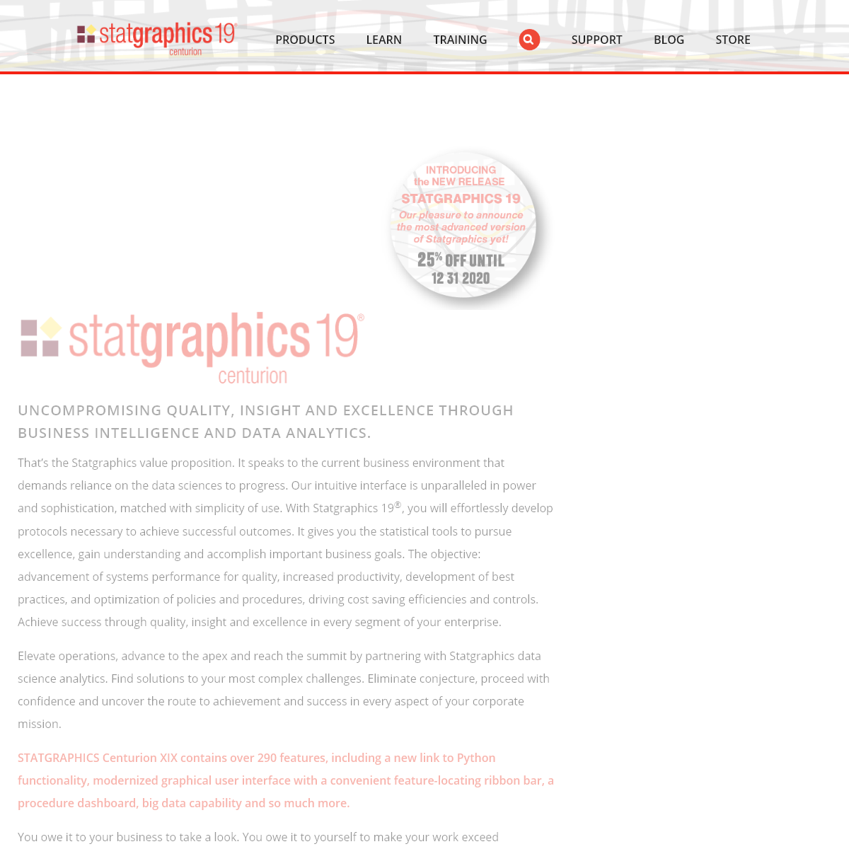 STATGRAPHICS - Data Analysis Solutions