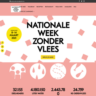 Nationale Week Zonder Vlees - 8 t-m 14 maart 2021