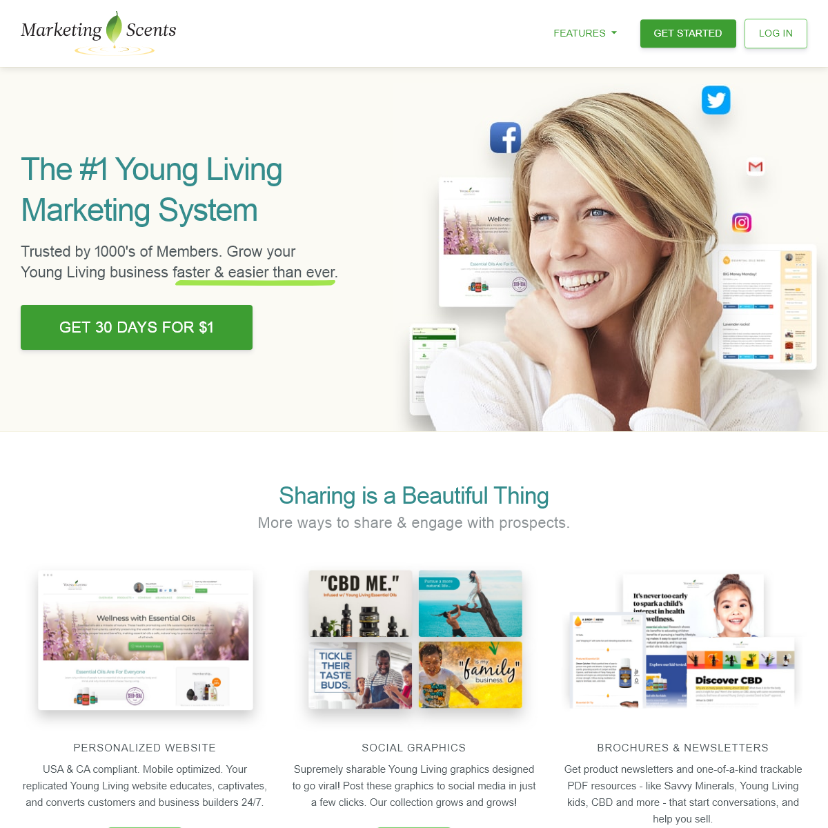 Young Living Websites & Business Tools - Marketing Scents