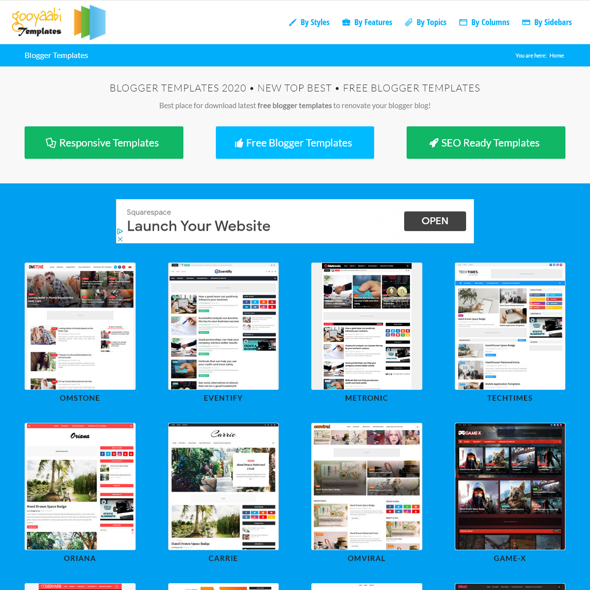Blogger Templates 2020 • Top Best Free • New Templates