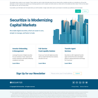Securitize - Digital securities for fund admin, transfer agent,…