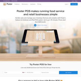 Poster POS- iPad & Android Restaurant POS System