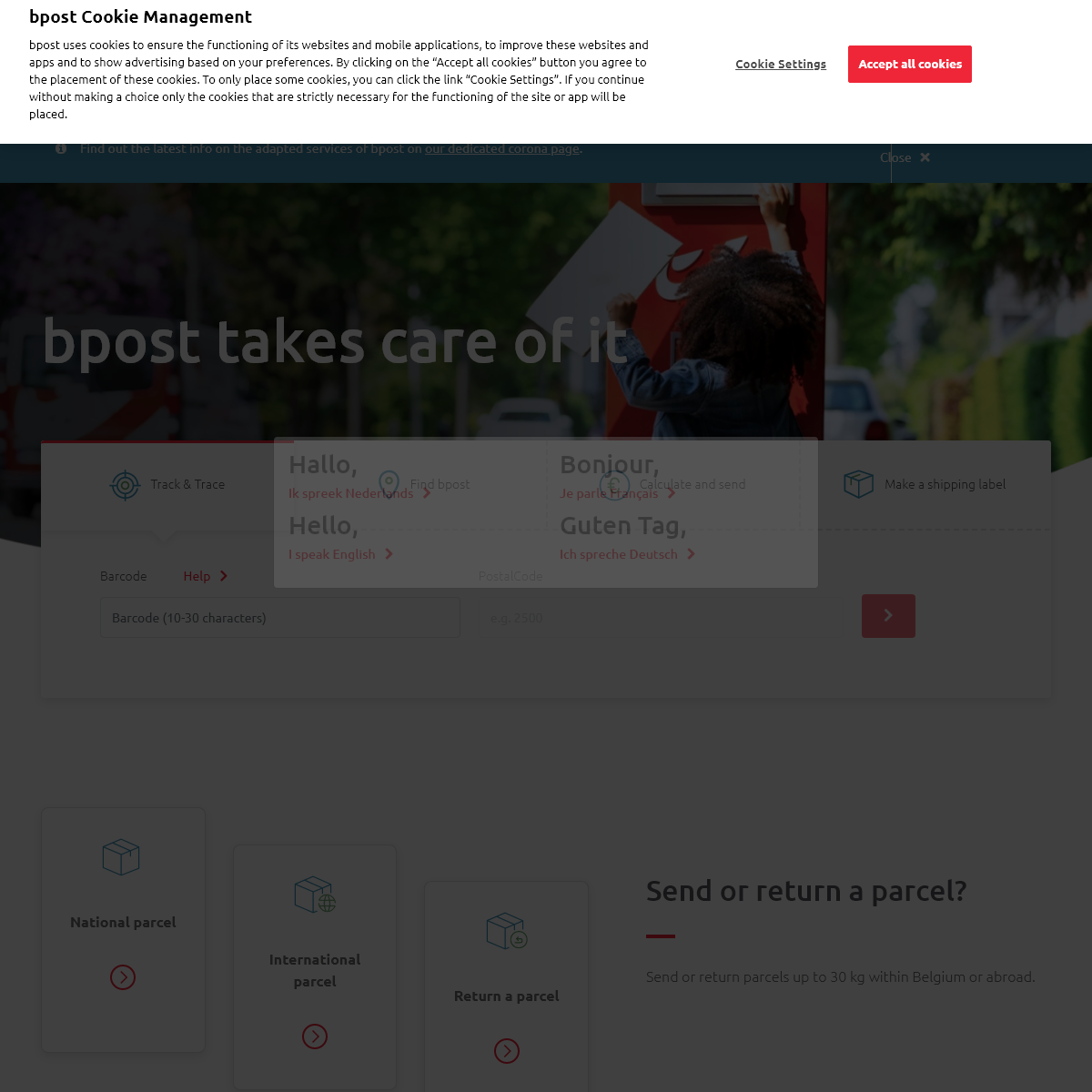 bpost will see to it - bpost