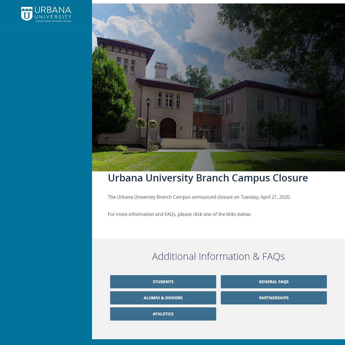 Small Private Division 2 College in Ohio - Urbana University