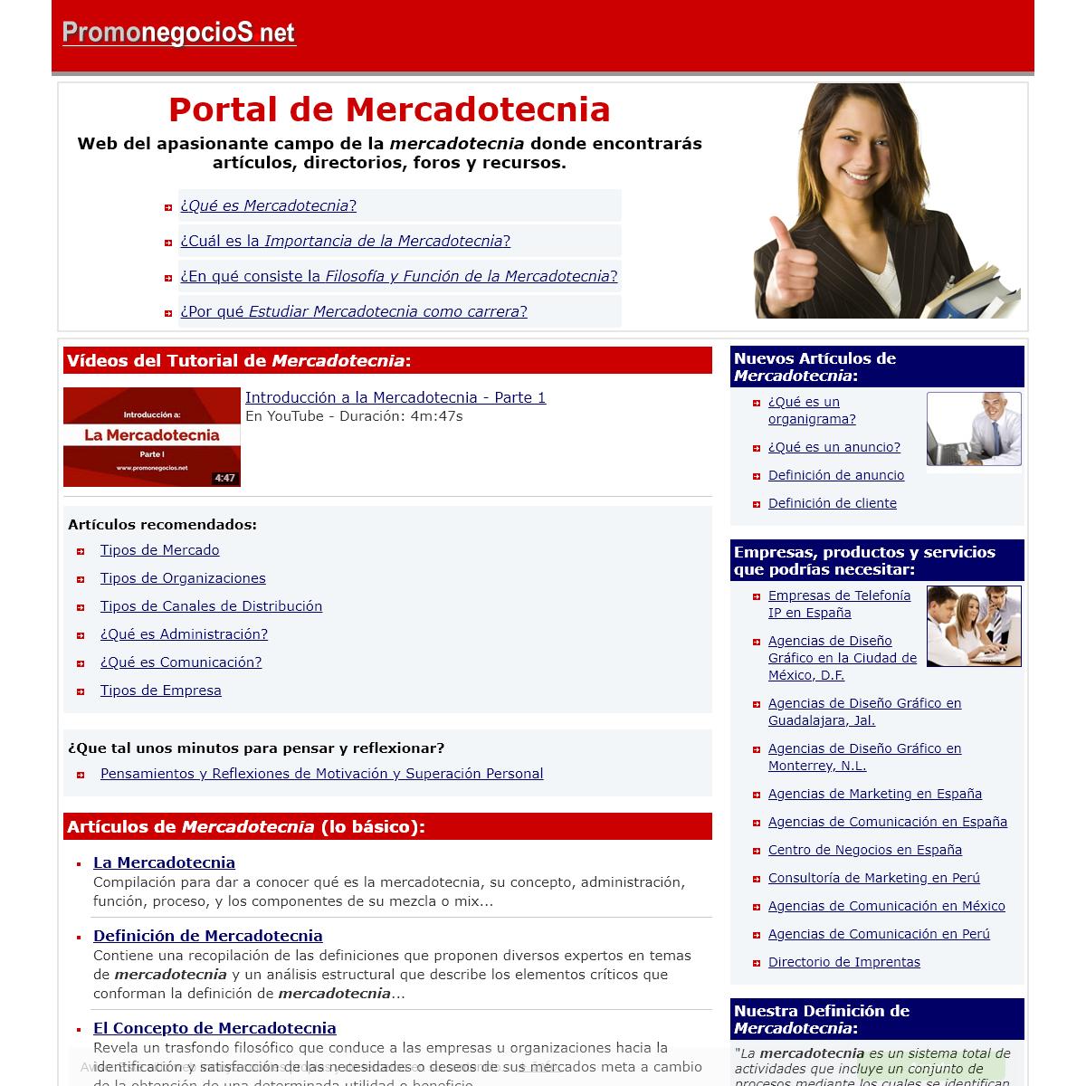 PORTAL DE MERCADOTECNIA - Promonegocios.net