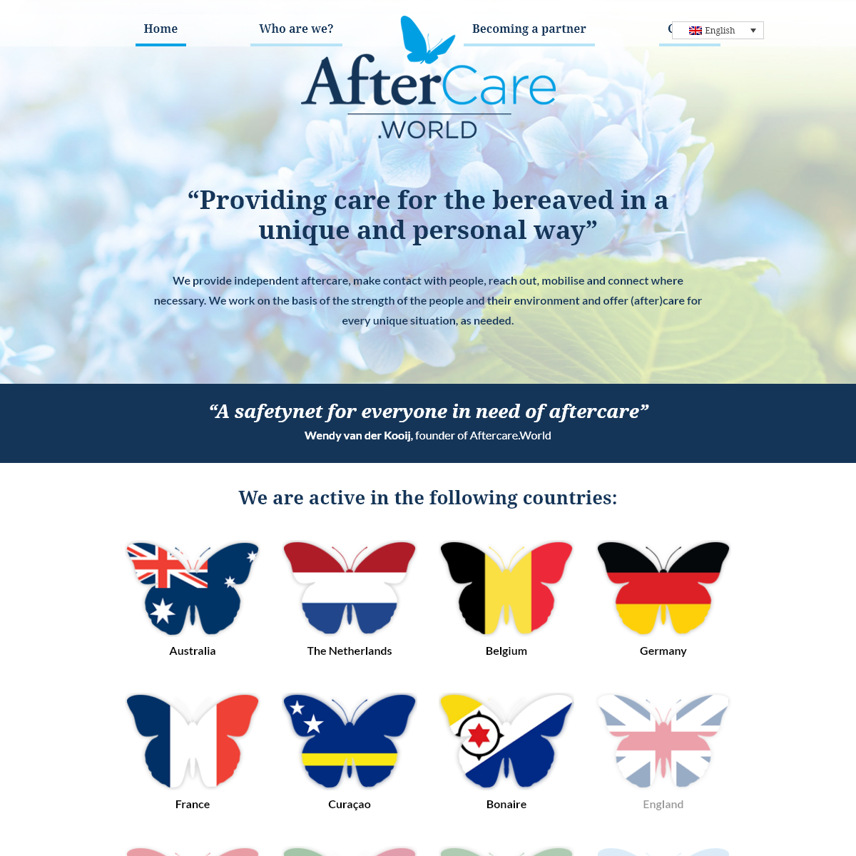 Providing care for the bereaved in a unique way - Aftercare.World