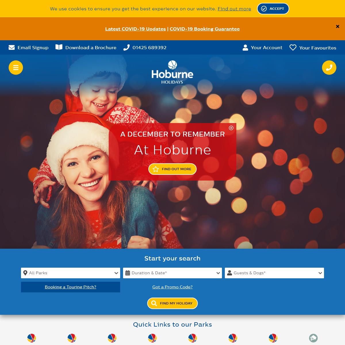 UK Holiday Parks - Self-Catering Holidays - Hoburne Holidays