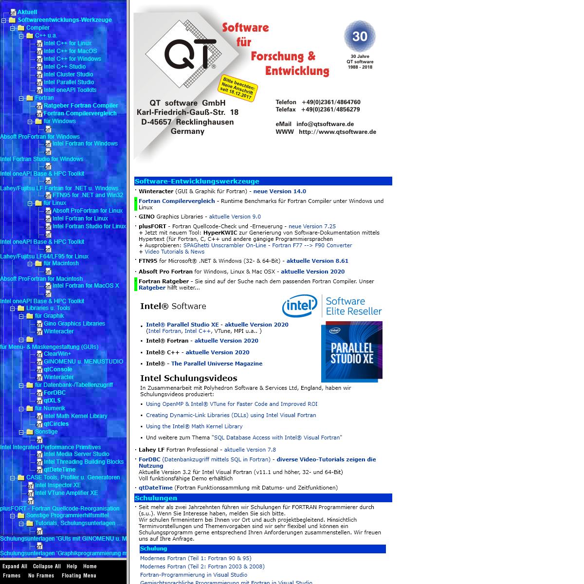 QT software WebSite