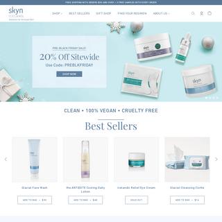 Vegan, Cruelty-free, natural skincare -- skyn ICELAND