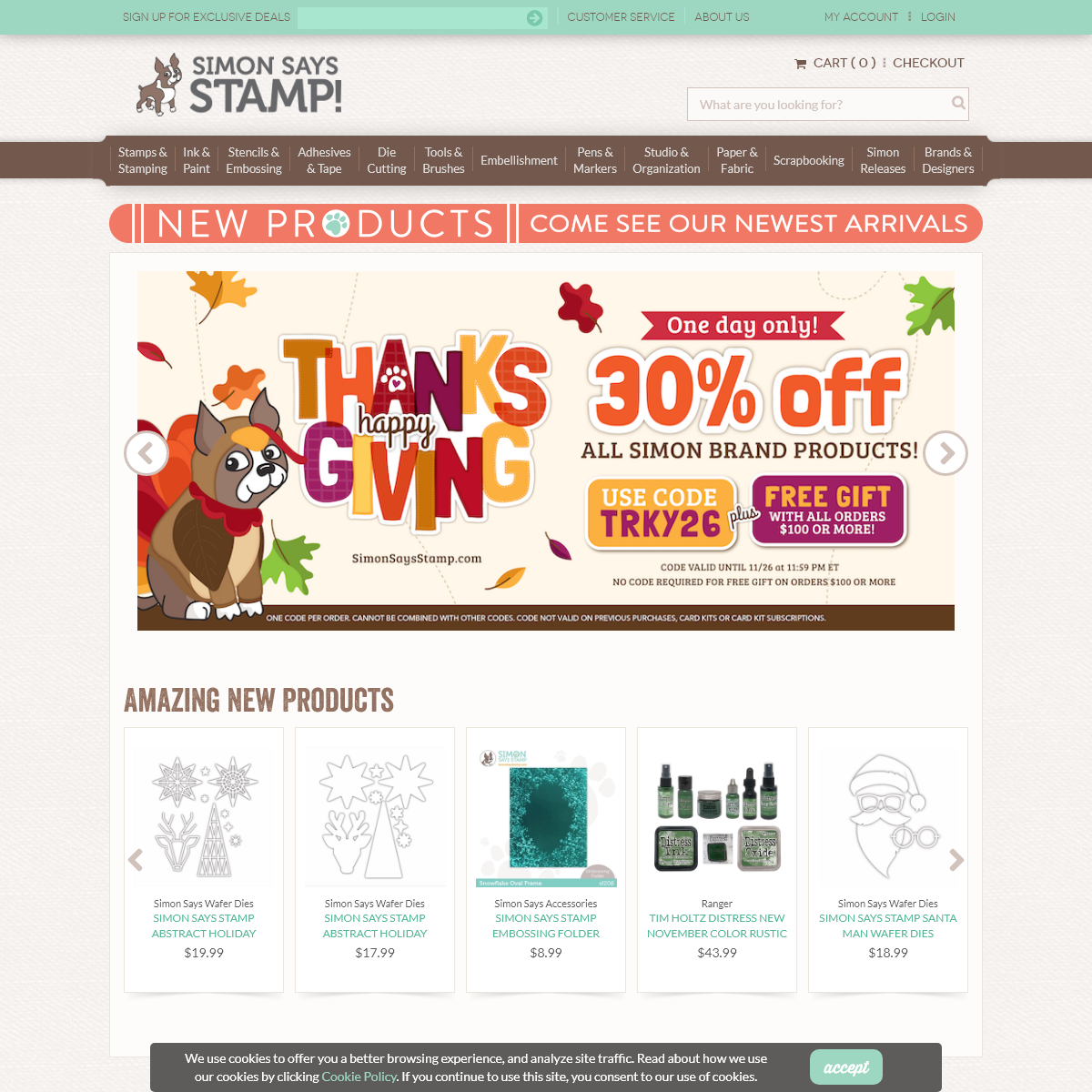 Simon Says Stamp World`s Largest Selection of Paper Art Supplies!
