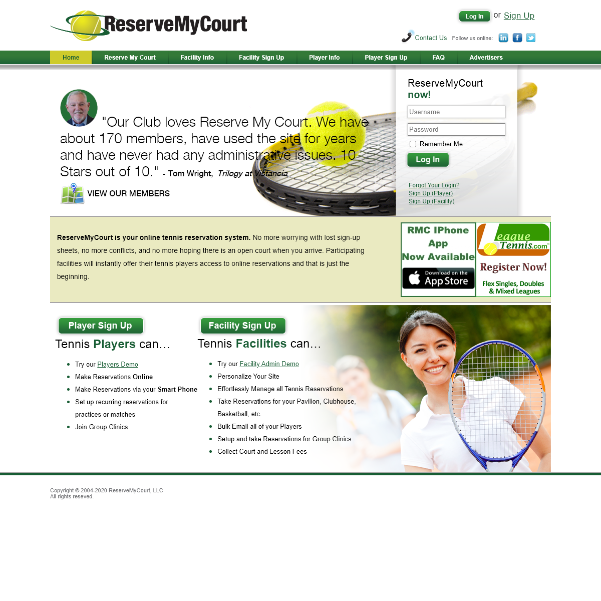 Tennis Reservations