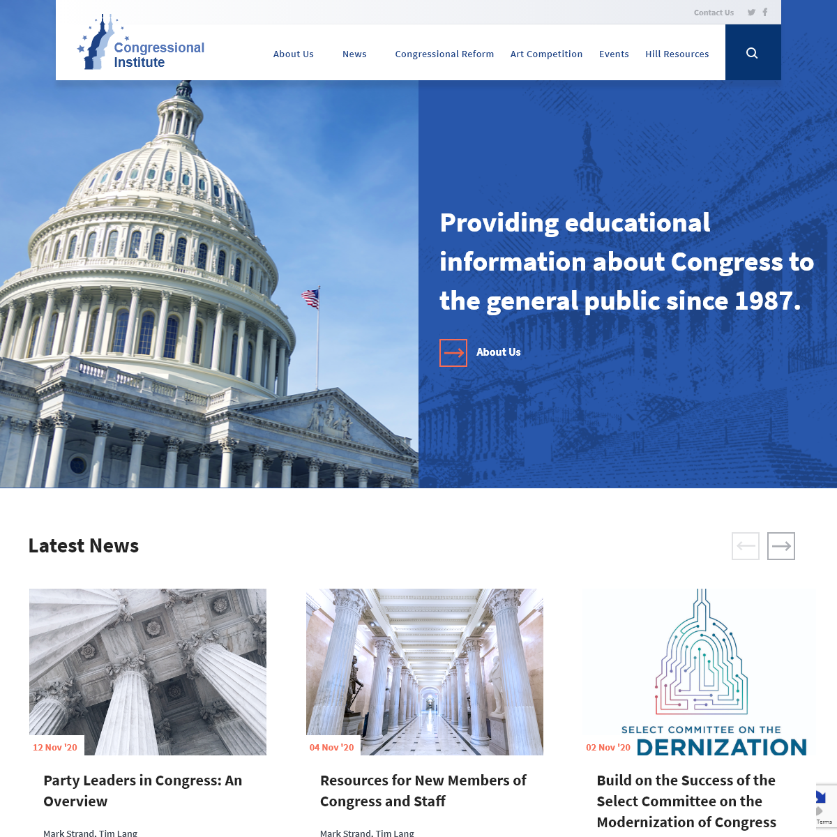 Congressional Institute – Providing educational information about Congress to the general public since 1987.