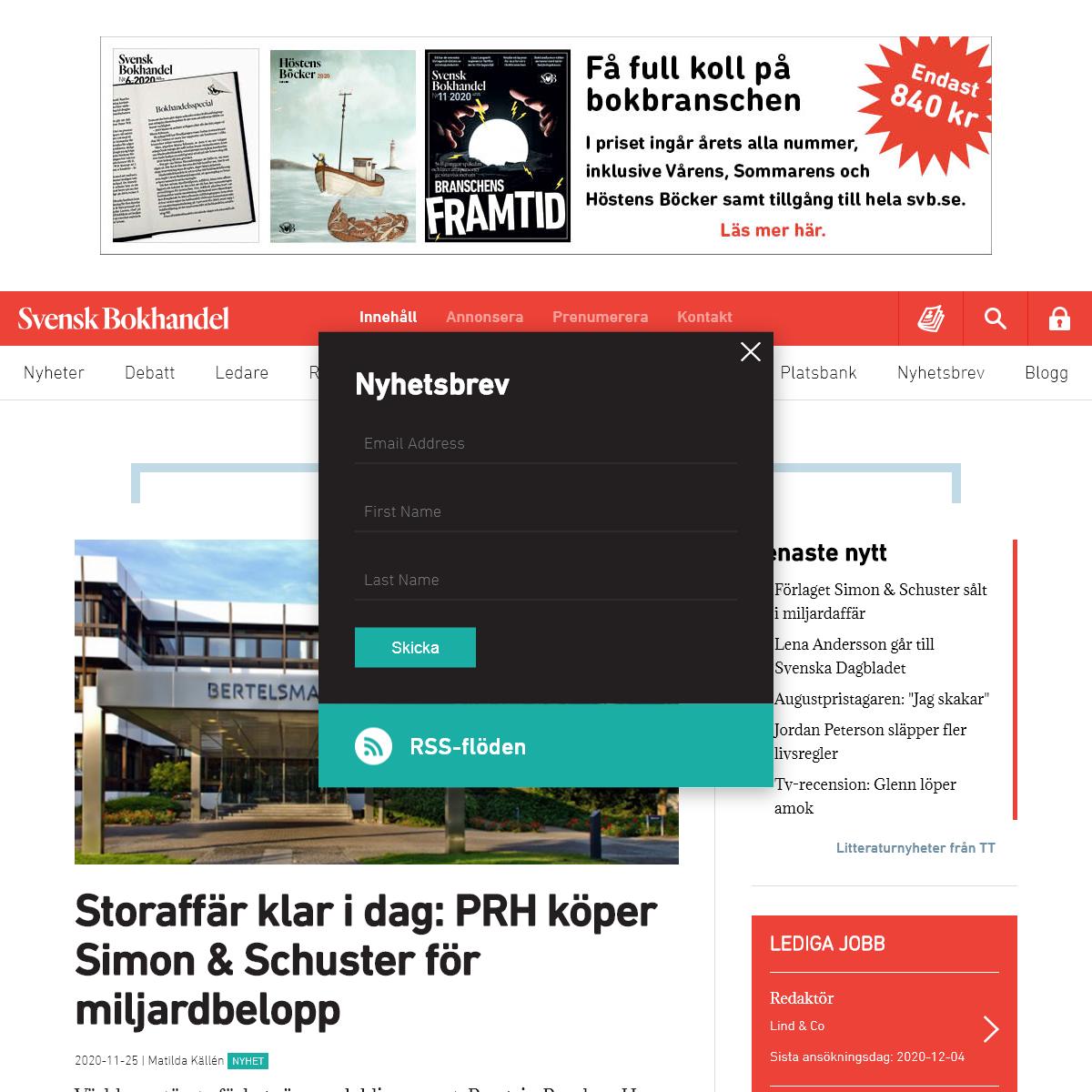 Svensk Bokhandel -