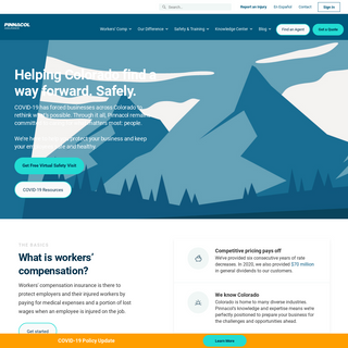 Colorado`s trusted workers` comp provider - Pinnacol Workers` Comp