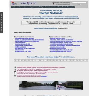 Vaartips Nederland, kennisbank voor pleziervaart en scheepvaarthistorie