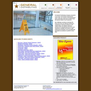 General Distributing Company, Inc. -- 1-800-655-2187