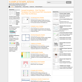 SampleTemplatess - Find The Best Templates Free Word Excel PDF Documents Docs PSD xls rtf docx