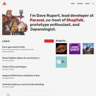 📰🔨 The Homepage of Dave Rupert - daverupert.com
