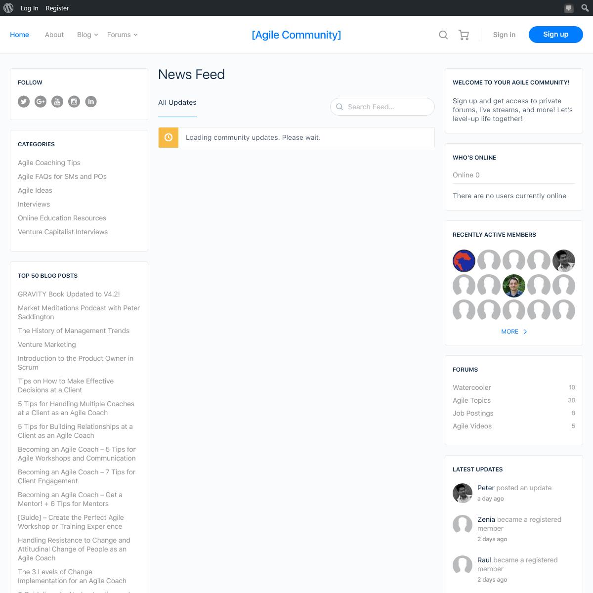[Agile Community] – Agile - Startups - Training - Coaching