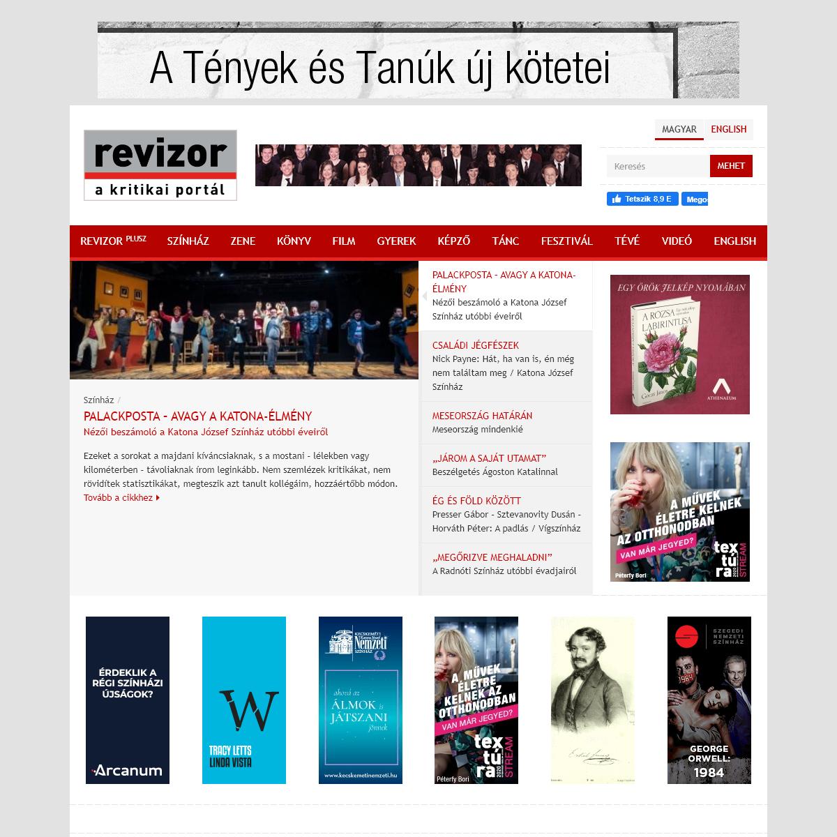 Revizor - a kritikai portál.