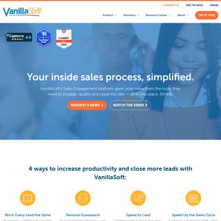 Sales Engagement Software for Inside Sales - VanillaSoft