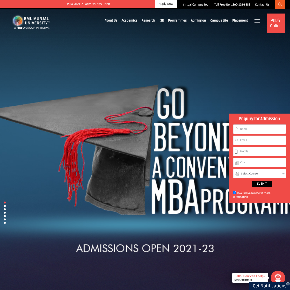 BML Munjal University - Engineering Courses - Management Courses - Law Courses - Economics & Commerce Courses