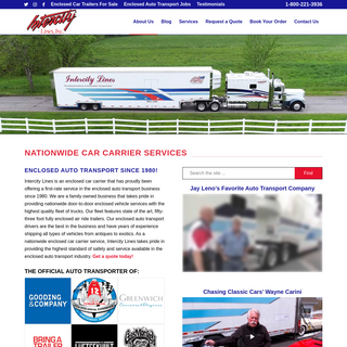 Nationwide Enclosed Auto Transport – Intercity Lines