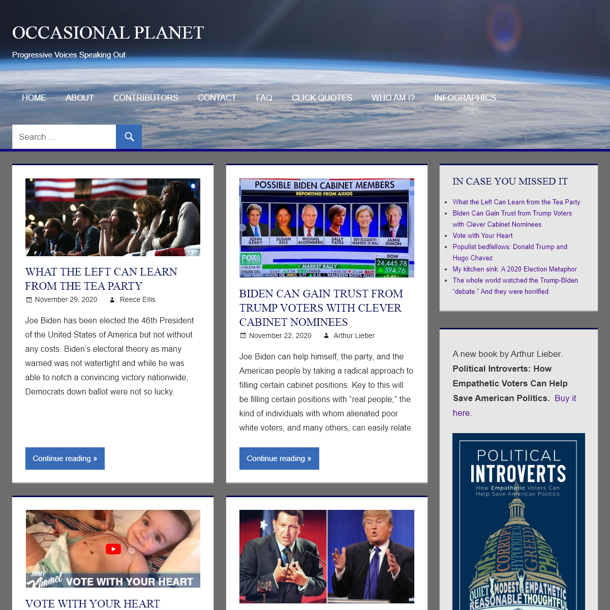 Occasional Planet - Progressive Voices Speaking Out
