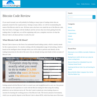 Bitcoin Code Review - citywidefundinginc