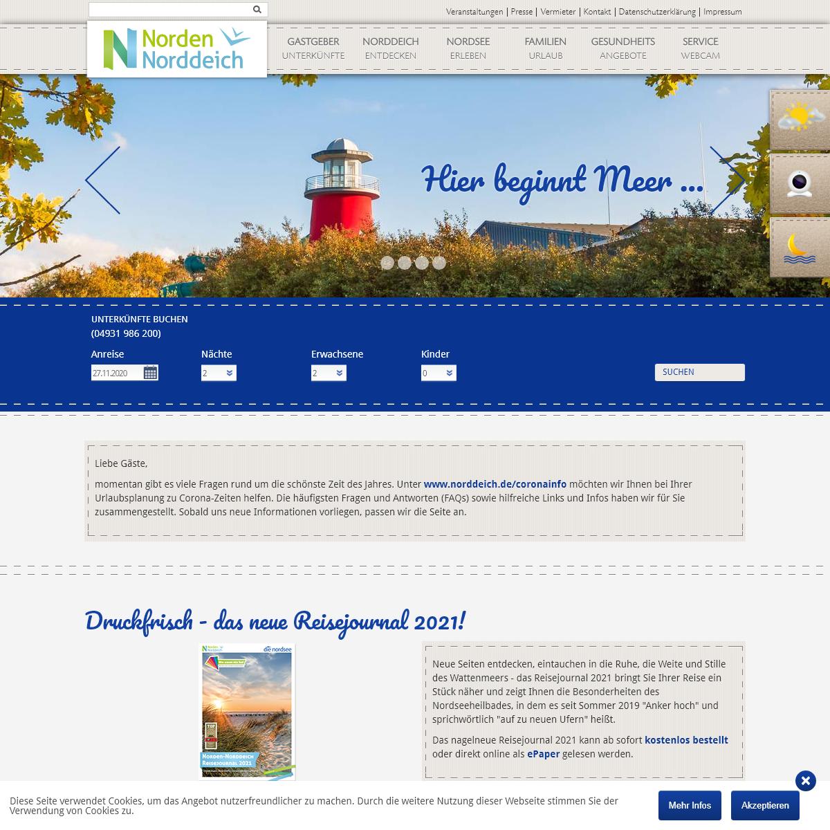 Hotel & Ferienwohnung Norddeich- Urlaub in Ostfriesland