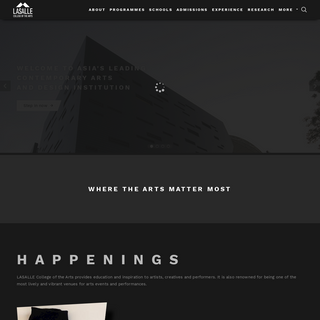 Homepage - LASALLE College of the Arts