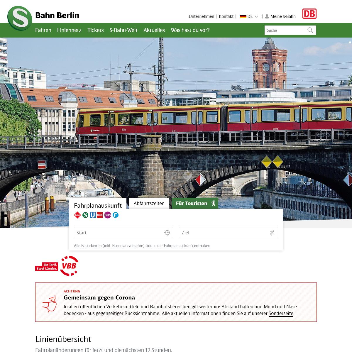 Willkommen in Berlin - S-Bahn Berlin GmbH