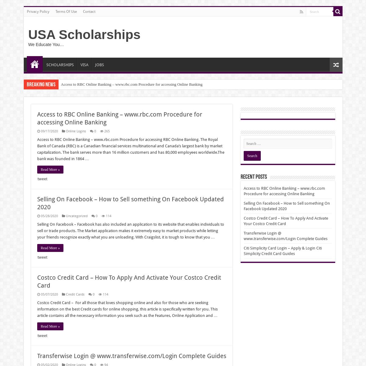 USA Scholarships – We Educate You…